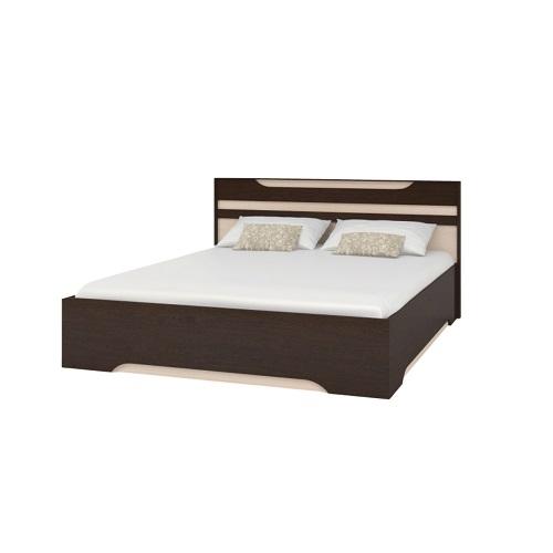 Широкая двуспальная кровать Прага в Калининграде, купить двуспальную кровать недорого в Мебельном доме Диамир