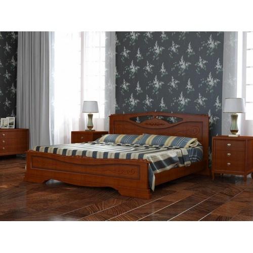 Двуспальная кровать Елена-3 в ореховом цвете купить в Калининграде