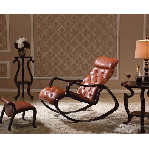 Деревянное кресло-качалка Gordica M308 в цвете black walnut купить в Калининграде