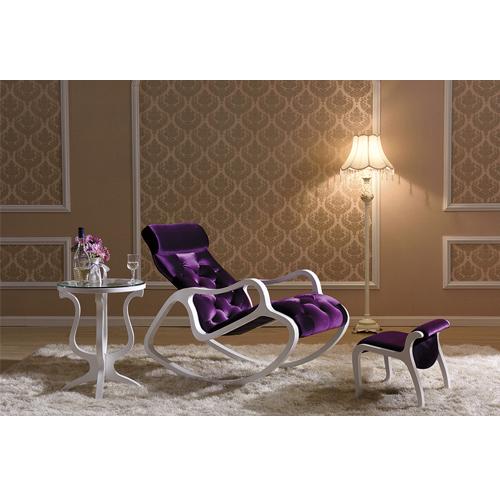 Деревянное кресло-качалка Gordica M308 (white-violet) купить в Калининграде