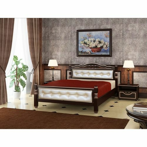 Двуспальная кровать Карина-11 в цвете орех купить в Калининграде
