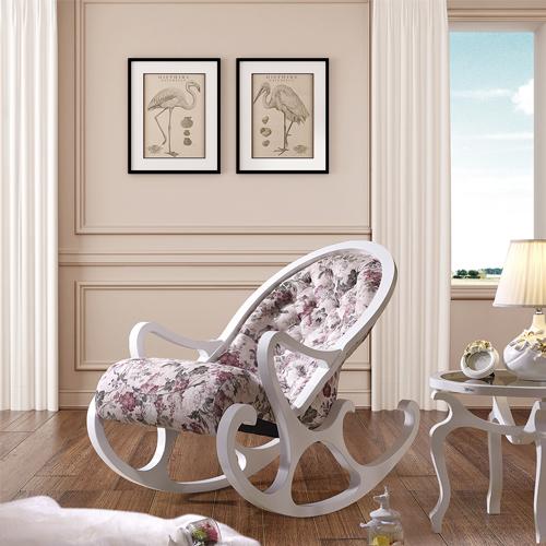 Деревянное кресло-качалка Mobilica M318 (white-mayflower) купить в Калининграде