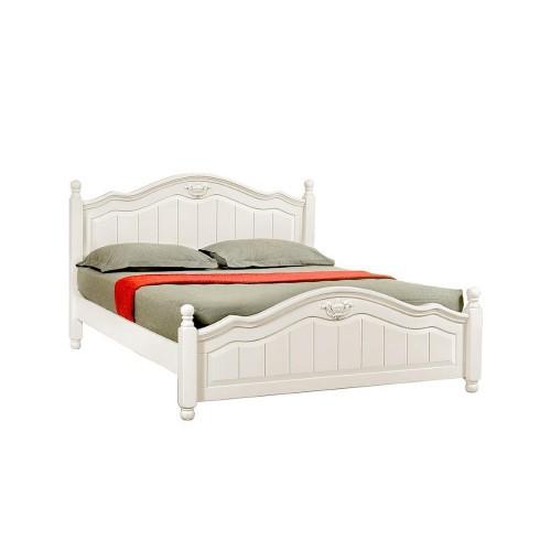 Двуспальная кровать Maudy в цвете слоновой кости в сером цвете купить в Калининграде
