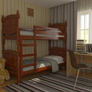 Кровать двухъярусная деревянная Валерия купить в Калининграде