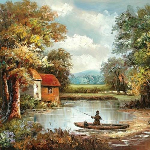 Пейзаж с озером купить в салоне мебели Театр Диванов в Калининграде