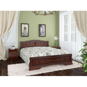 Кровать Карина-6 тахта в цвете орех в Калининграде, купить двуспальную кровать недорого в Мебельном доме Диамир