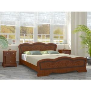 Резная деревянная кровать Карина-8 в Калининграде, купить двуспальную кровать недорого в Мебельном доме Диамир