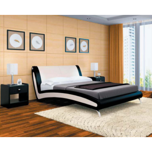 Контрастная кровать Мальта в Калининграде, купить двуспальную кровать недорого в Мебельном доме Диамир