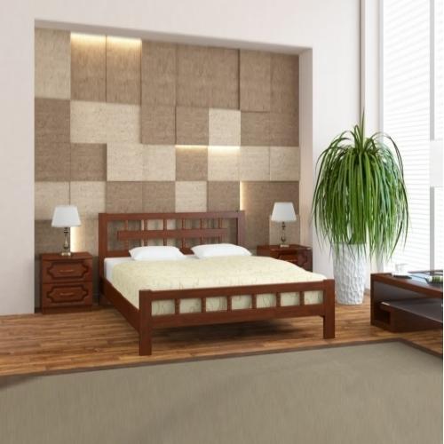 Кровать Натали-5 орех в Калининграде, купить двуспальную кровать недорого в Мебельном доме Диамир
