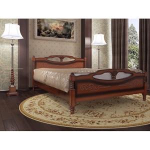 Двуспальная кровать Елена-4 в цвете орех купить в Калининграде