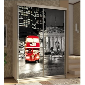 Шкаф-купе Гринвуд с фотопечатью Лондон купить в Калининграде