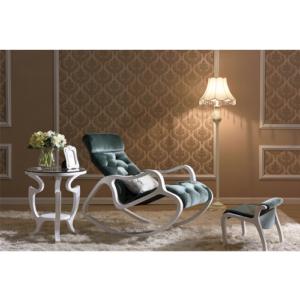 Деревянное кресло-качалка Gordica M308 (white-green) купить в Калининграде
