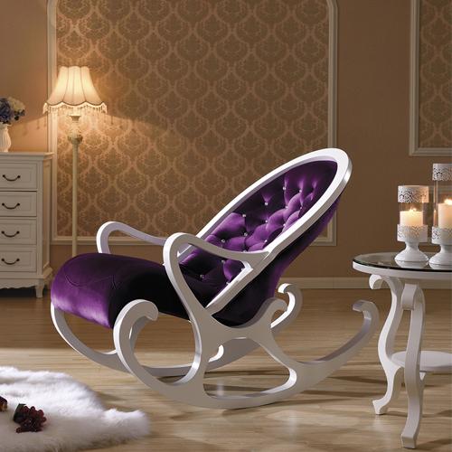 Деревянное кресло-качалка Mobilica M318 (white-violet) купить в Калининграде
