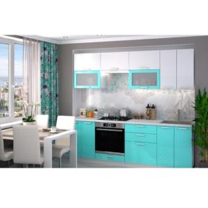 Кухонный гарнитур Глория в голубом цвете купить в Калининграде