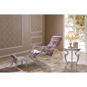 Деревянное кресло-качалка Gordica M308 (white-pink) купить в Калининграде
