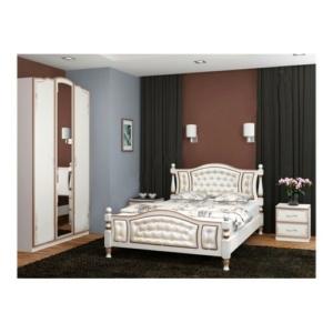 Красивая двуспальная кровать Жасмин дуб молочный светлая купить в Калининграде