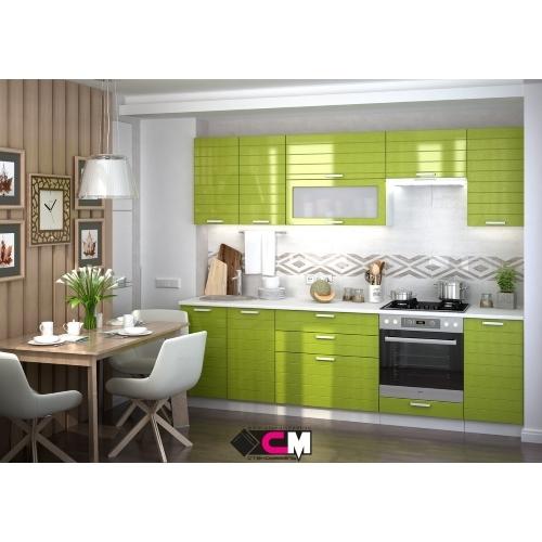 Кухонный гарнитур Линда в оливковом цвете купить в Калининграде