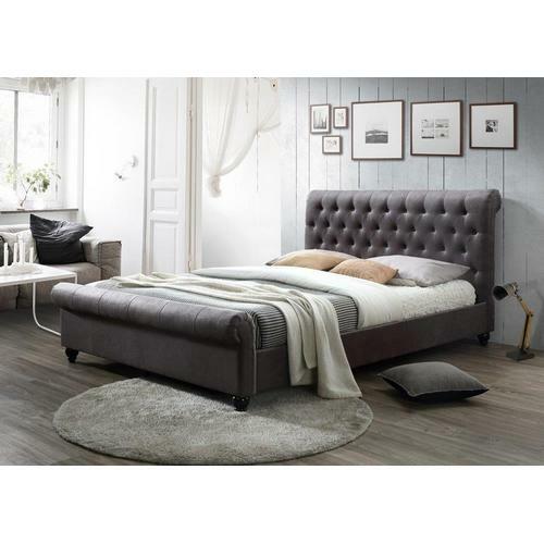 Двуспальная кровать Mantilia 160 в сером цвете