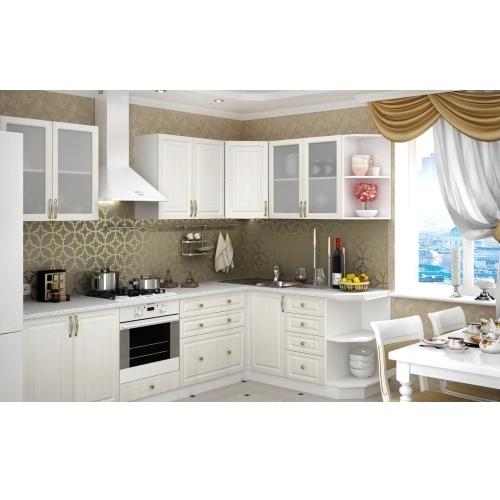 Угловой кухонный гарнитур Юлия в светлом оттенке купить в Калининграде