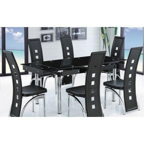 Черный кухонный стол в Калининграде.
